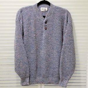 Vintage Raglan Henley Sweater